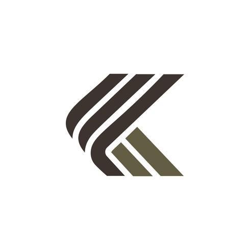 brev k lyx logo design koncept mall vektor