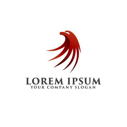 Luxus Adler Kopf Logo Design-Konzept-Vorlage vektor