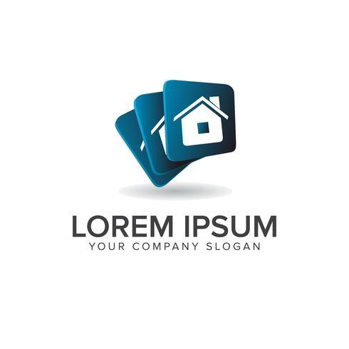 Immobilien-Logo-Design-Konzept-Vorlage vektor
