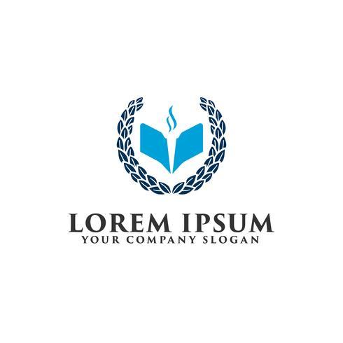 utbildnings universitet logotyp design koncept mall vektor