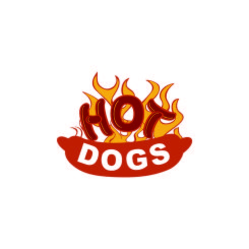 Hot Dog Illustration Logo Design-Konzept-Vorlage vektor