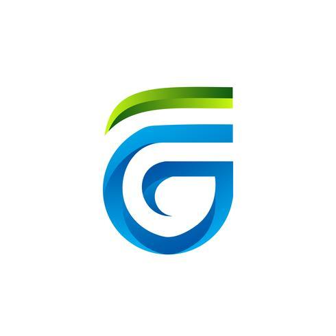 Buchstabe FG Logo-Design-Konzept-Vorlage vektor