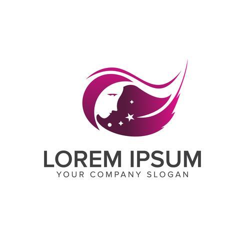 Beauty Spa Menschen Logo-Design-Konzept-Vorlage vektor