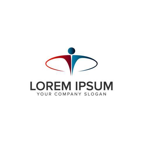 Luxus-Geschäftsleute Logo-Design-Konzept-Vorlage vektor