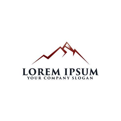 Mountain Logo-Design-Konzept-Vorlage vektor