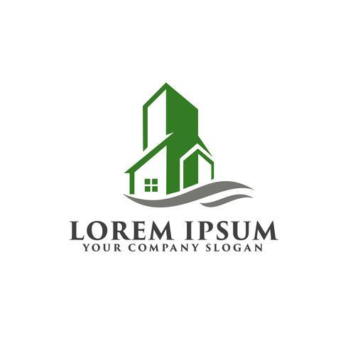 Architektur, Bau, Immobilien und Hypothek logo desig vektor