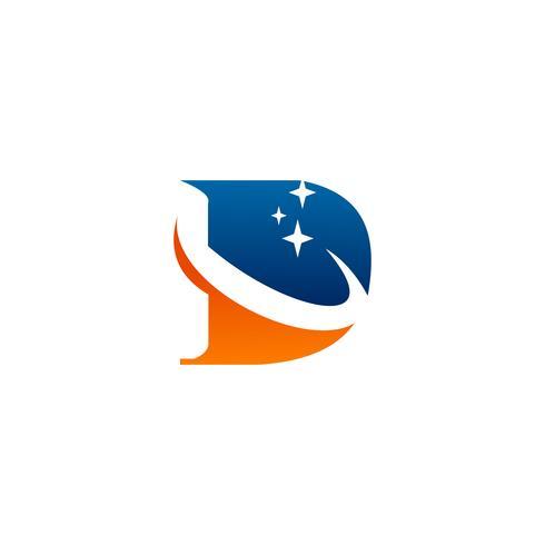 brev d logotyp design koncept mall vektor