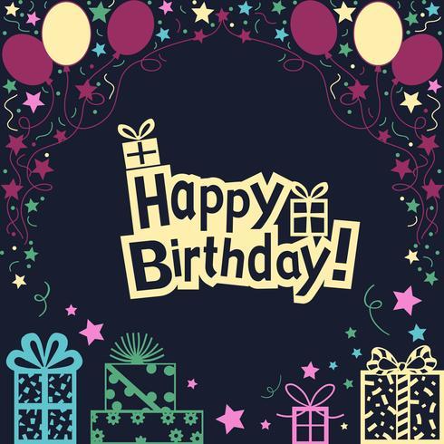 Alles Gute zum Geburtstag Illustration Hintergrund vektor