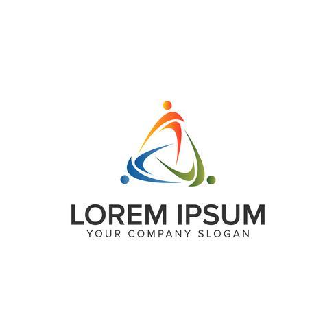 Menschen Business und Consulting-Logo. Teamwork-Logo-Design-Konzept-Vorlage vektor