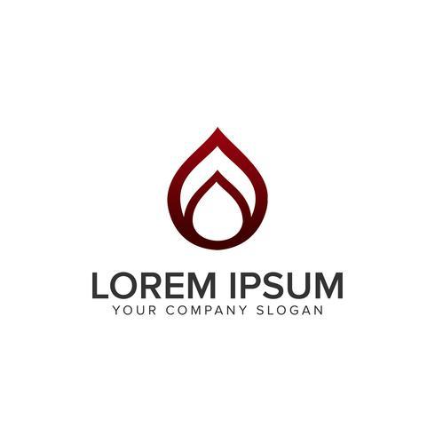 Luxus Wassertropfen LogoLogo Design-Konzept-Vorlage vektor