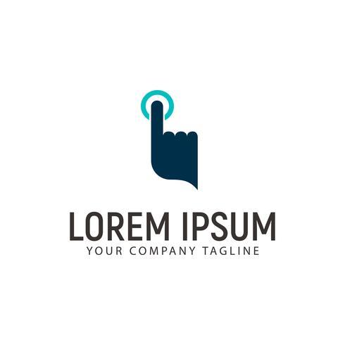 Touch Finger Technologie Logo Design-Konzept-Vorlage vektor