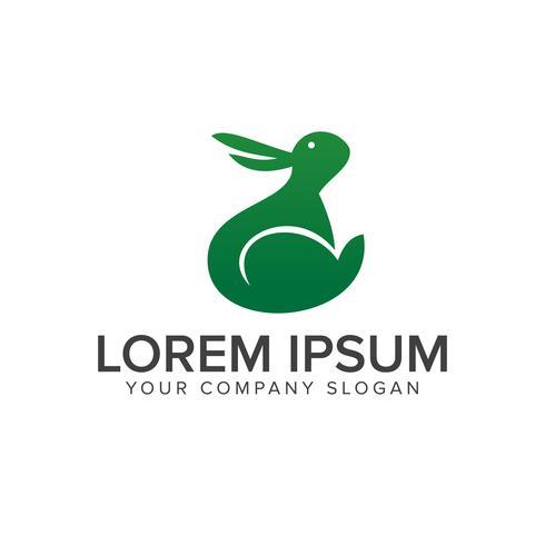 Kaninchen-Logo-Design-Konzept-Vorlage vektor