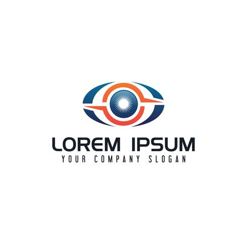 ögonteknologi logo designkoncept mall vektor