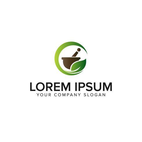 medicin apotek växtbaserade logo design koncept mall vektor