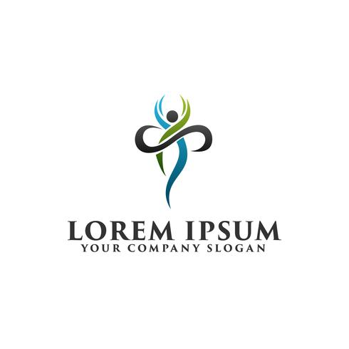 Gesunde Menschen Logo-Design-Konzept-Vorlage vektor