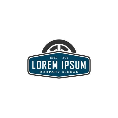 Autoreifen-Logo. Emblem-Design-Konzept-Vorlage vektor