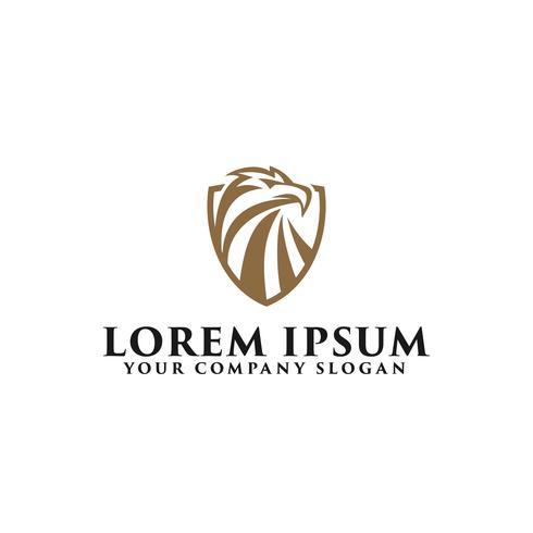 Luxus-Adler-Logo-Design-Konzept-Vorlage vektor