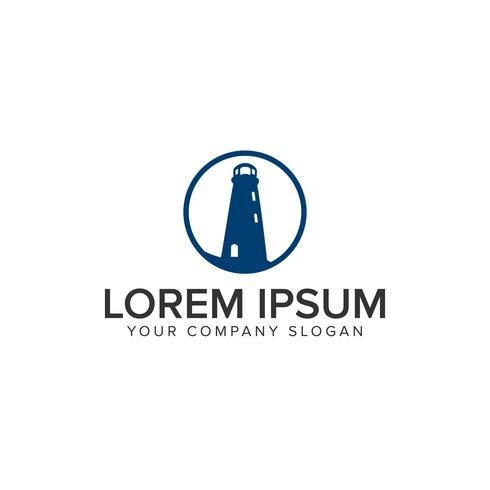 Leuchtturm-Logo-Design-Konzept-Vorlage vektor