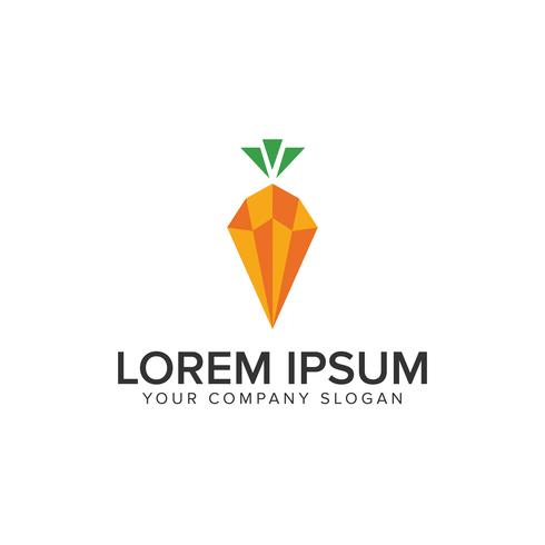 Karotten-Logo-Design-Konzept-Vorlage vektor