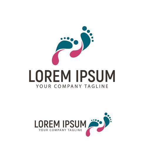 Footprint-Logo-Design-Konzept-Vorlage vektor