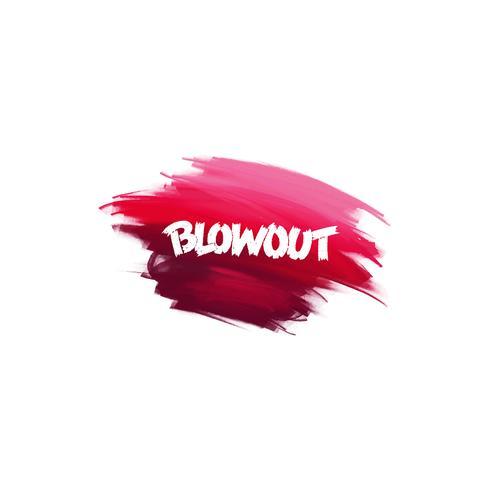Handskriven bokstäverborste fras Blowout med akvarellbakgrund vektor
