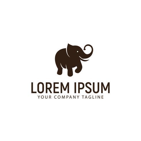 Elefant-Logo-Design-Konzept-Vorlage vektor