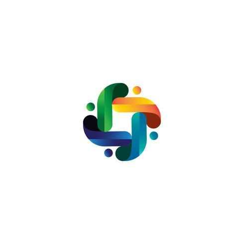 människor community logo mall vektor illustration ikon element