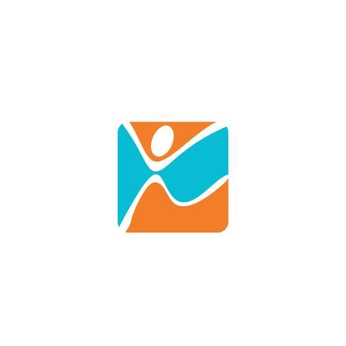 gemenskap mänsklig logotyp mall vektor illustration ikon element isolerad