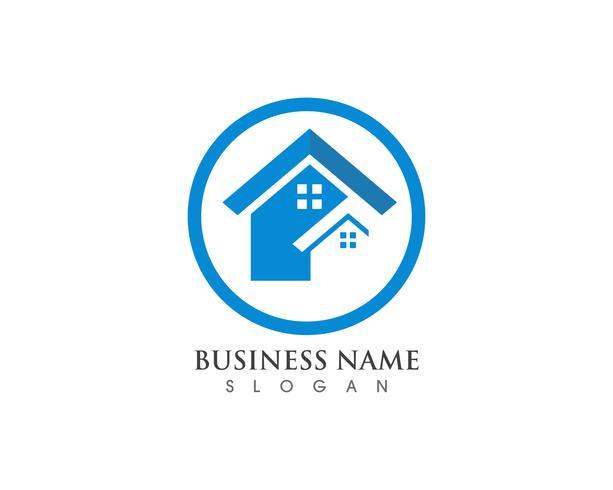 hembyggnader logotyp och symboler ikoner mall vektor