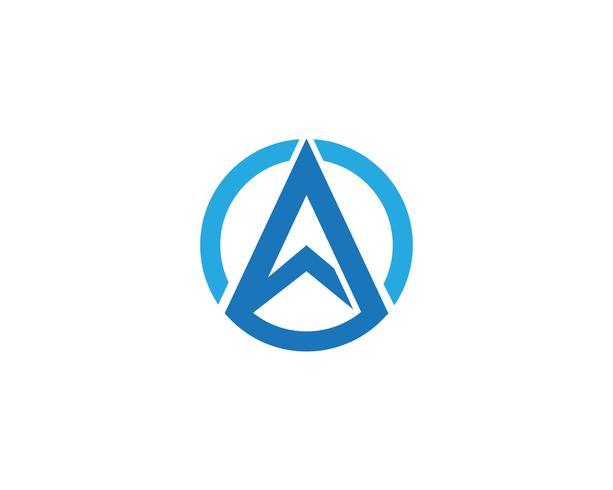 Ein Buchstabe Logo Business Template Vector-Ikonen vektor