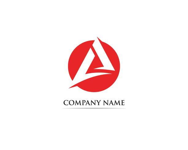 En logotyp för affärsmall vektorikon vektor