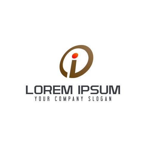 Letter I logo design koncept mall vektor