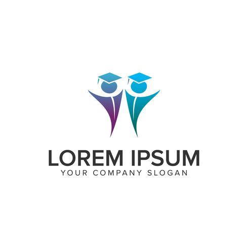 Bildung Menschen Logos Design-Konzept-Vorlage vektor