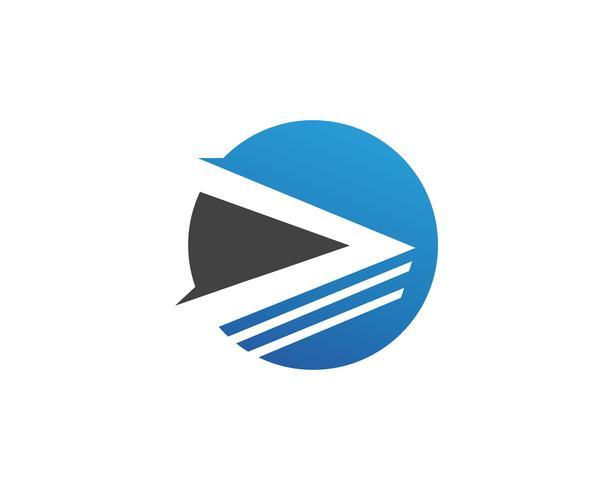 Snabb ekonomi logotyp och symboler vektor koncept illustration