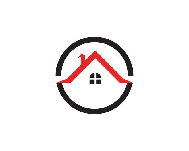 hembyggnader logotyper och symboler ikoner mall vektor