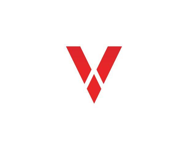 V logotyp affärslogotyp och symbolmall vektor