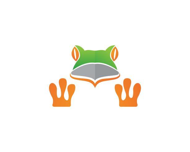 grön groda symboler logotyp mall vektor