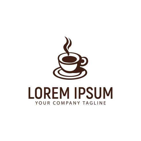 Kaffeetasse Logo Design-Konzept-Vorlage vektor