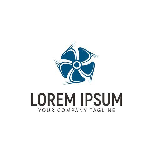 turbinen fläkt logo design koncept mall vektor