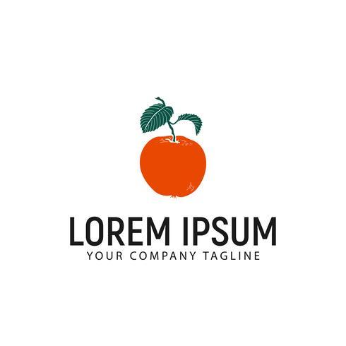 apelsin frukt logotyp design koncept mall vektor