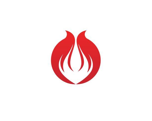 Brandflamma Logo Mall vektorikon Olje-, gas- och energilogo vektor