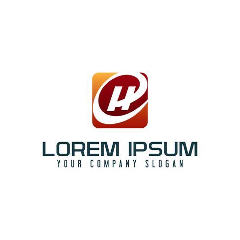 Letter H-logotyp. affärsteknik design koncept mall vektor