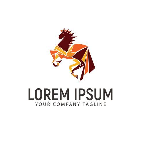 Kopf Pferd Logo. Design-Konzept-Vorlage vektor