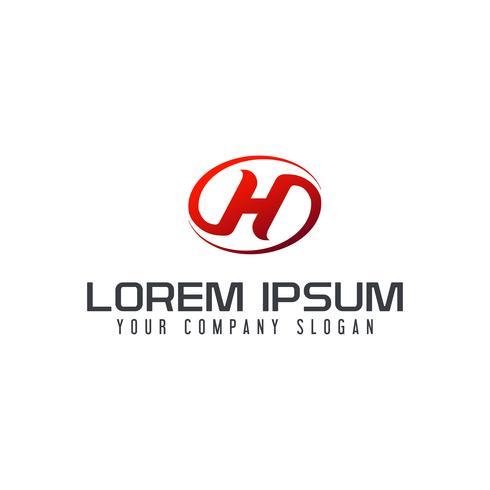 Letter H-logotypkonceptkonceptmall vektor