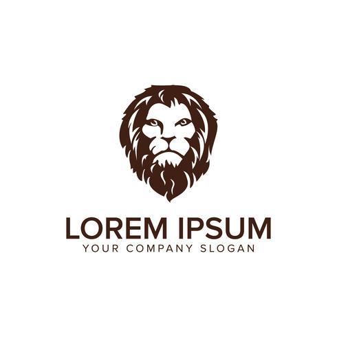 Kopf Lion Logo-Design-Konzept-Vorlage. vollständig bearbeitbarer Vektor