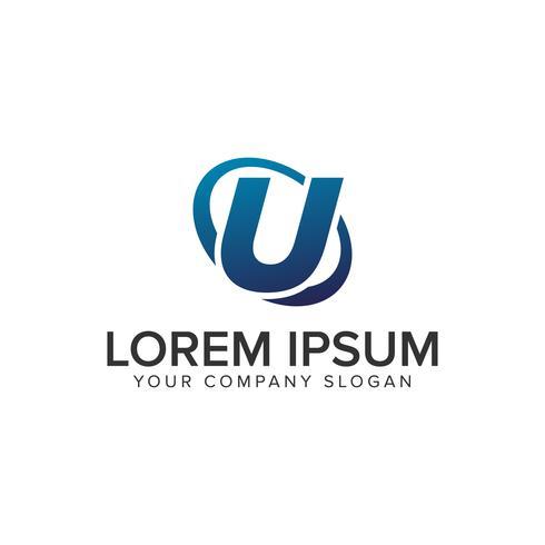 Kreative moderne Logo-Konzeptionsschablone des Buchstaben U. voll ed vektor