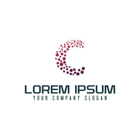 brev C internet logo design koncept mall vektor