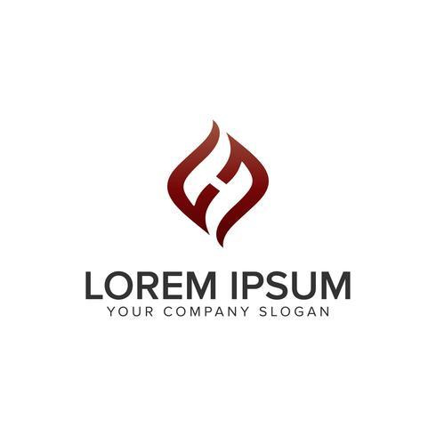 Letter H kreativ unik logotypdesignkonceptmall. helt edi vektor