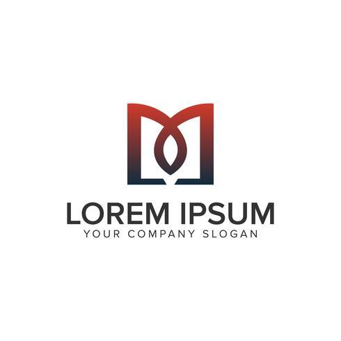 Letter M kreativ unik logotypkonceptkonceptmall. helt edi vektor