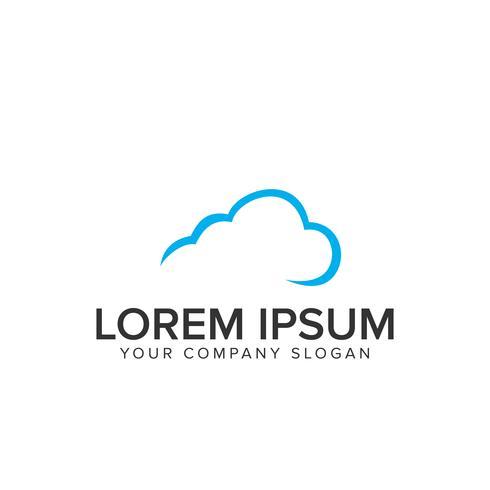 Cloud-Logo-Design-Vorlage vektor